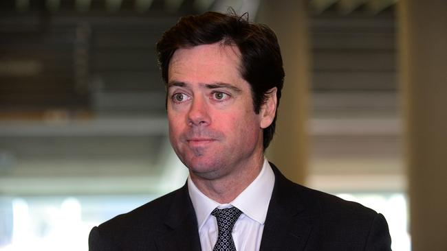AFL chief Gillon McLachlan has informed the club of their equalisation status. Picture: Tom Huntley