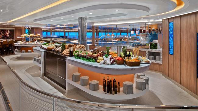 A little bit of up-market cruise-ship buffet action
