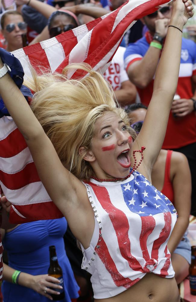 This American fan has clearly bought into the hype.