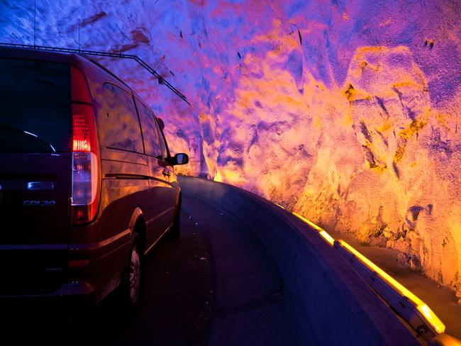 Inside the Laerdal Tunnel. Picture: Roman Konighofer