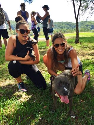 Tarryn Williams and Brittany Bennett took part in the Rescue Your Fitness pack run. Source: supplied.