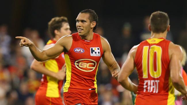 Harley Bennell booted six goals to help Gold Coast beat Geelong by 40 points.