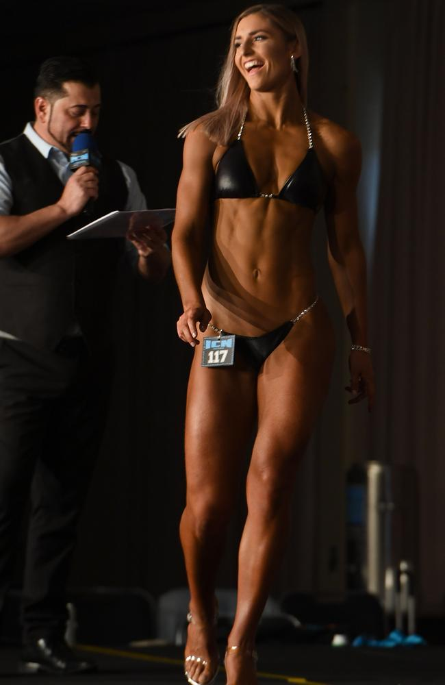 Frances Abbott made her bodybuilding debut in September. Picture: Jeff Crow