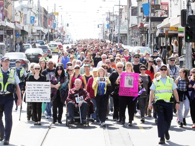 A Melbourne peace march for Jill Meagher. Photo: News Limited