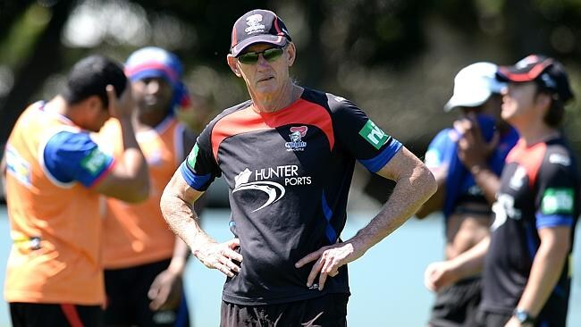 Wayne Bennett puts the Knights through their paces.