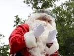 Father Christmas making his way down King William Street in the 2017 Adelaide Credit Union Christmas Pageant. AAP Image/Dean Martin
