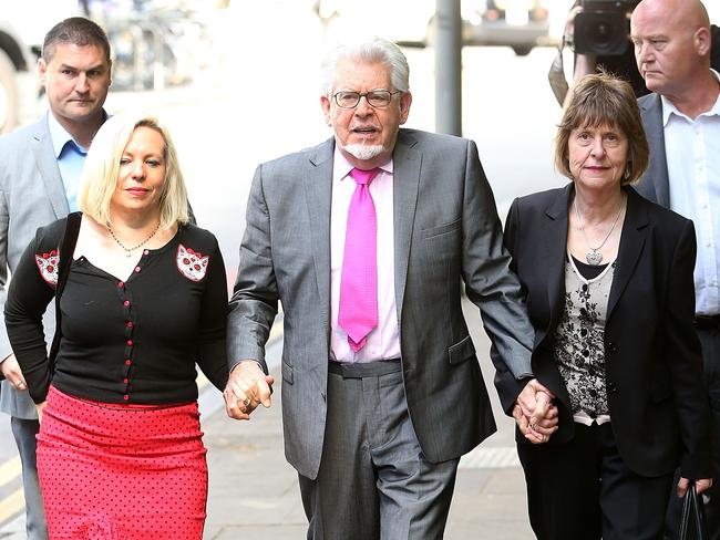 On trial ... Rolf Harris Artist and daughter Bindi Harris arrives at Southwark Crown Court on June 25 in London. Picture: Getty