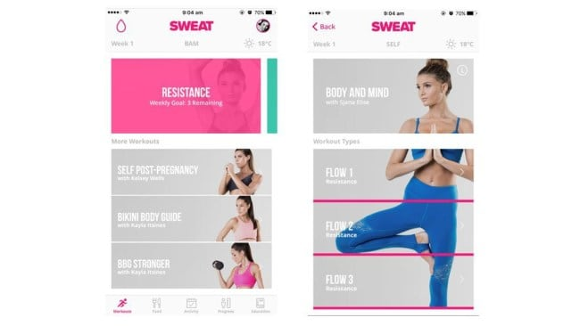 Photo: SWEAT app