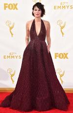 Lena Headey attends the 67th Annual Primetime Emmy Awards in Los Angeles. Picture: AP