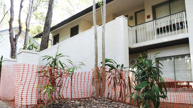 Outside a block of rooms at Palmer Coolum Resort on the Sunshine Coast. Pics Tara Croser.