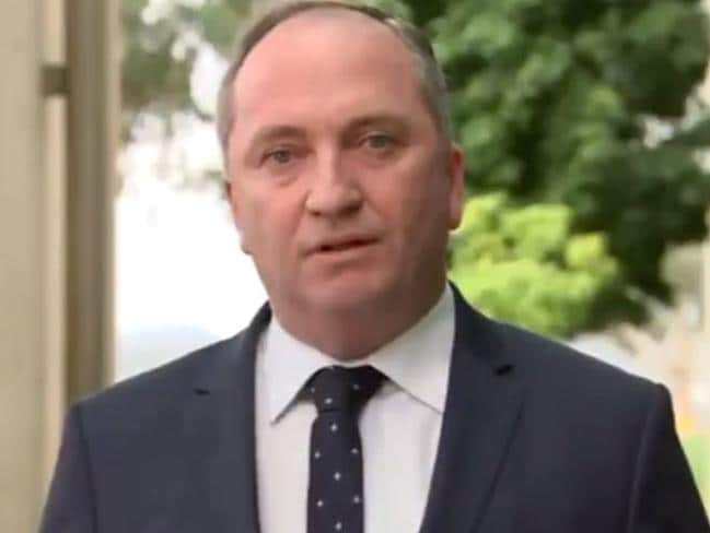 Barnaby Joyce has apologised to his wife, daughters, and new partner. Picture: ABC