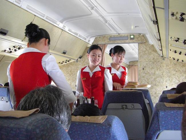 Flight JS151 to Beijing still shows interior from the COld War era. Picture: Stephan.