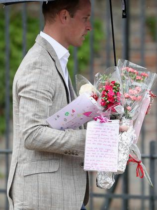 Prince William holding tributes to his late mother. Picture: Chris Jackson/Getty Images