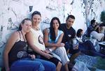 Copy pics of (l to r) Katrina Richards, Alyth McComb, Schapelle Corby and her brother James Kisina at the jail where Schapelle is being held in Bali. This is the first time they have been together since October 08, 2004.