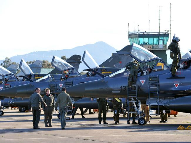 French Mirage 2000 jet fighters from the French military, pictured in Corsica in 2011. Picture: AFP
