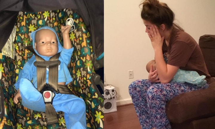 Mum shares teen's disastrous attempt at parenting a robot baby