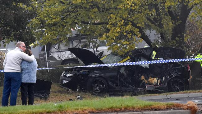 The couple in the Holden Commodore had only been married for 12 months. Picture: Nicole Garmston