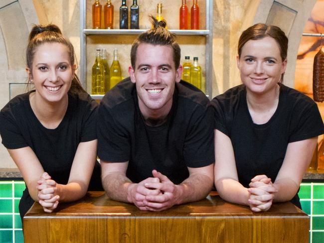 MasterChef's top three ... Laura Cassai, Brent Owens and Emelia Jackson.