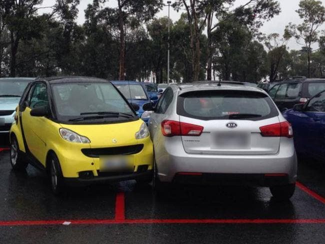 2. Those damn smart cars, so difficult to fit in a car space due to their massive size. Picture: Facebook