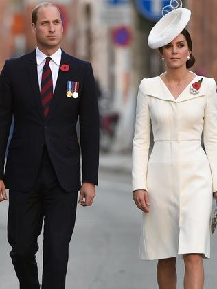 Britain's Duke and Duchess of Cambridge rarely hold hands. Picture: AFP.