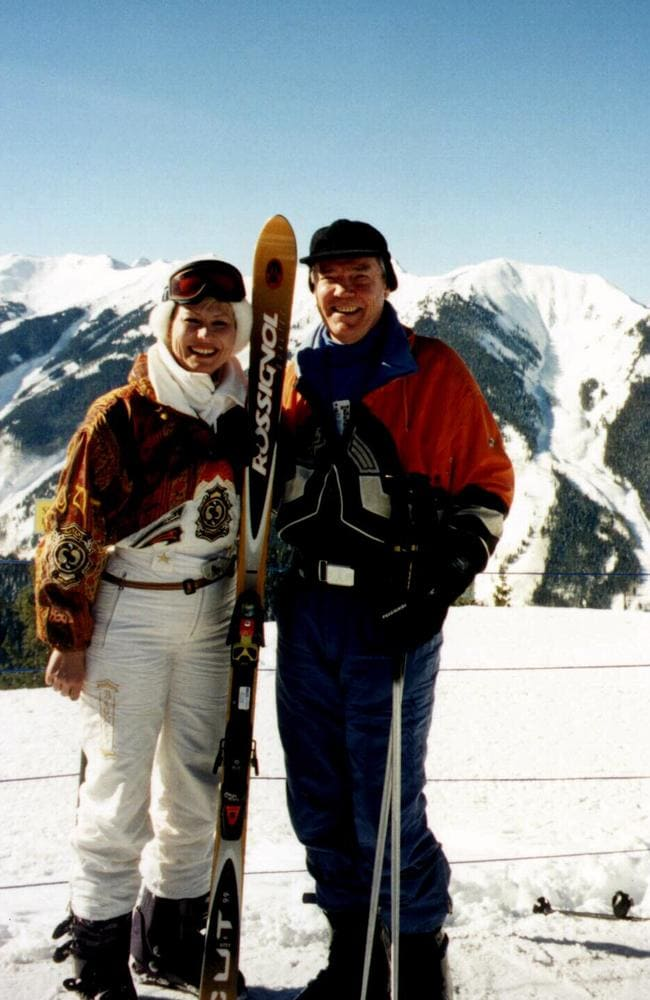 The couple have travelled the world together, including annual ski trips to Aspen. Picture: Supplied.