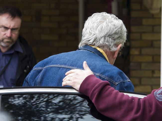 Rolf Harris gets out of a car at his home, in Maidenhead, UK. Picture: Ben Stevens / i-Images