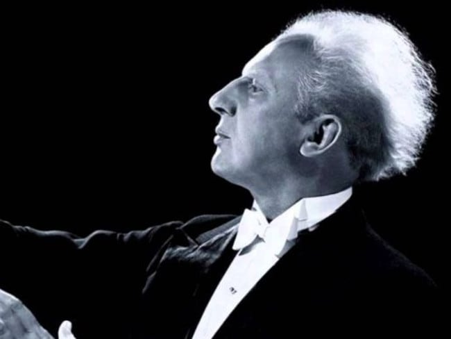Leopold Stokowski, whose hairstyle seems somewhat familiar.