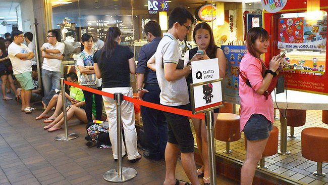 Singapore gripped by hello kitty frenzy at mcdonald 39 s for Australian cuisine singapore
