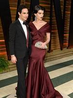 Fashion designer Zac Posen and Model Crystal Renn attends the 2014 Vanity Fair Oscar Party. Picture: Getty