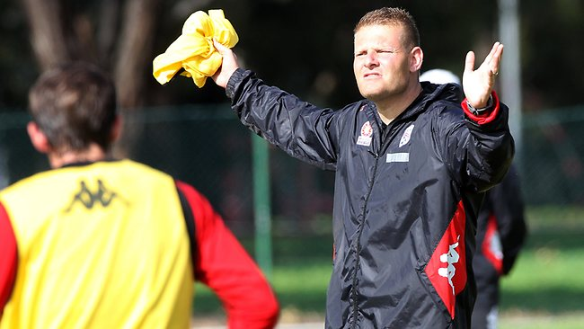 New Adelaide United coach Josep Gombau at SASI in Kidman Park.