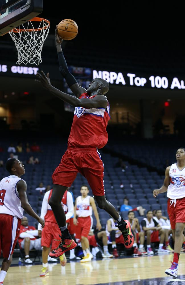 Thon Maker #101 with the lay up during the NBPA Top 100 Camp last year.