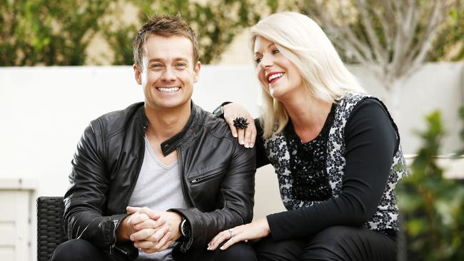 TV Personality Grant Denyer with his wife Chezzi received treatmemt at The Cabin for exhaustion.