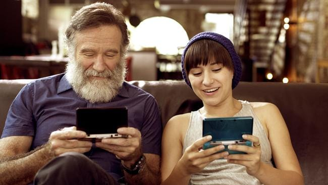 Close bond ... Robin Williams and his 25-year-old daughter Zelda Williams.