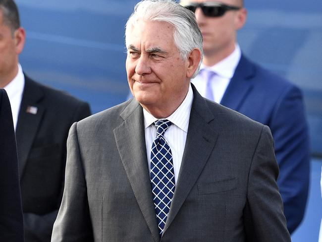 US Secretary of State Rex Tillerson has arrived in Moscow to confront the Russian leadership over its support for President Bashar al-Assad's Syrian regime. Picture: AFP/Alexander Nemenov
