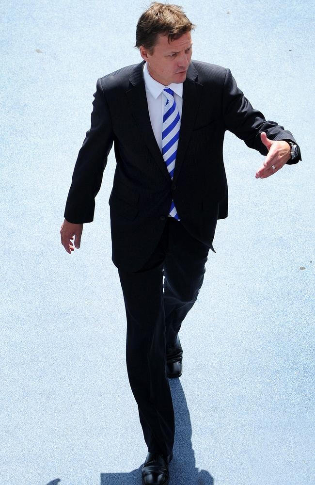 North Melbourne Chairman James Brayshaw at Arden Street.