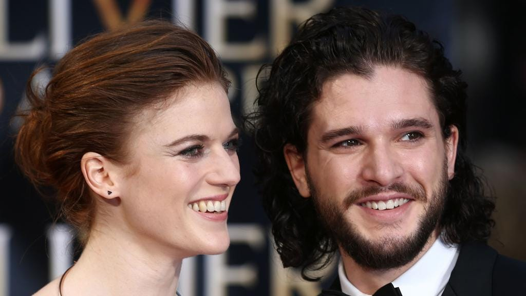 British actor Kit Harington and British actor Rose Leslie are reportedly engaged. Picture: AFP