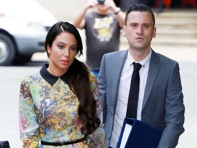 Tulisa Contostavlos appears at a London court. Picture: Splash News.