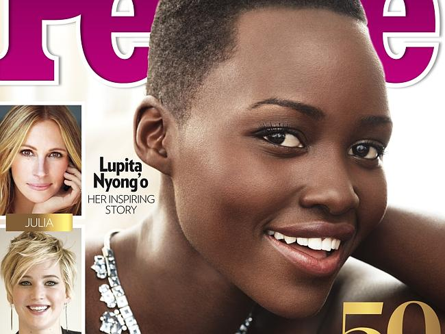 Cover girl ... Lupita Nyong'o has been awarded People magazine's Most Beautiful Person in