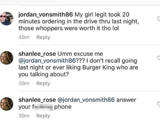 A cheating lad got himself in some serious hot water after posting a complaint on Burger King's Instagram page.