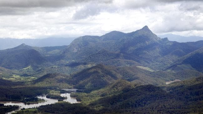 Views of Mt Warning from the air.