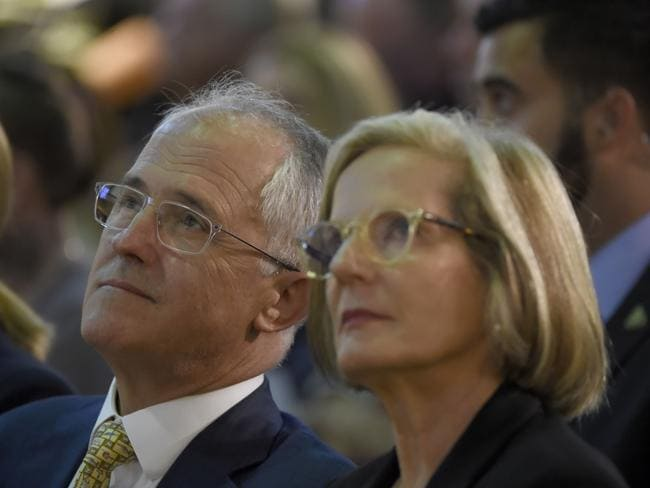 Malcolm and Lucy Turnbull, and wife Lucy, pictured in January. Picture: AAP Image/Mal Fairclough
