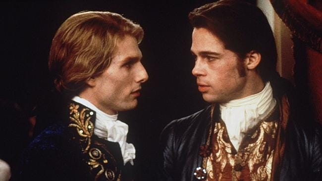 Tom Cruise (l) and Brad Pitt (r) in a scene from Interview with a Vampire, a film Oprah f