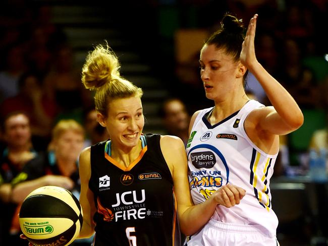 Battles between Townsville Fire and the Sydney Uni Flames are traditionally close affairs.