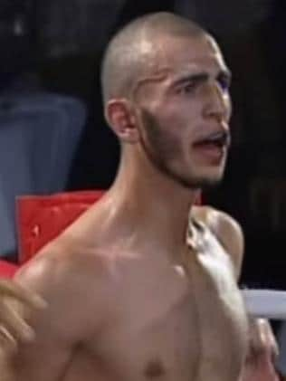 Mohamed Elomar in the ring in 2007. Picture: Fox Sports.