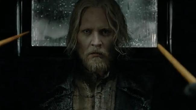 Depp plays the evil wizard Grindelwald.