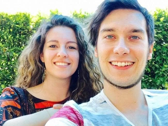Luca Russo, 25, from Italy was killed in Barcelona. His fiance was injured. Picture: Supplied.