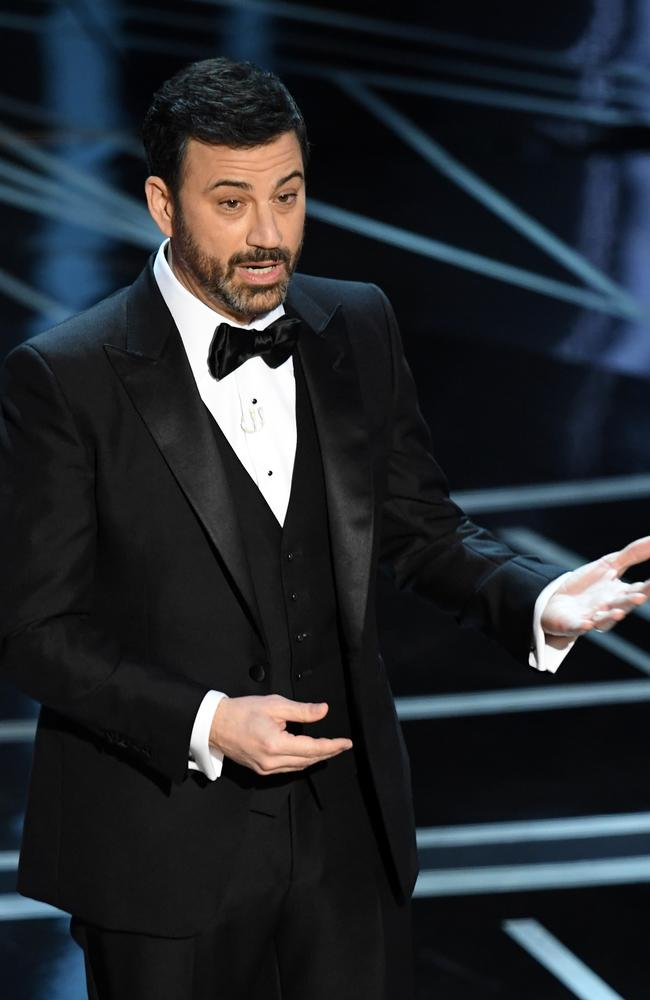 Jimmy Kimmel onstage during the 89th Annual Academy Awards.