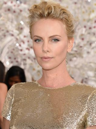 Glamazon ... Charlize Theron at a fashion show earlier this month. Picture: Pascal Le Segretain