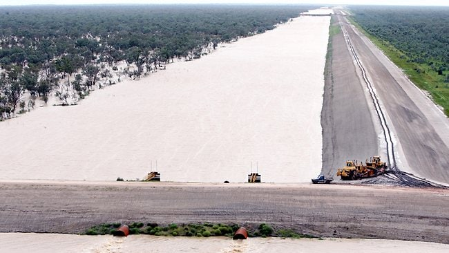 Some of the huge dams on Cubbie Station, just west of Dirranbandi. Picture: Lyndon Mechielsen