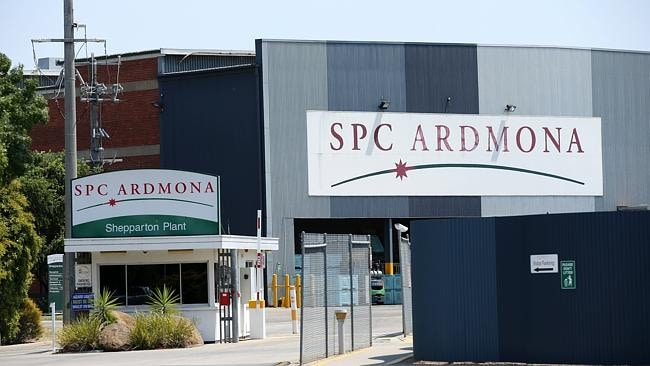 The SPC Ardmona plant at Shepparton. Picture: Norm Oorloff